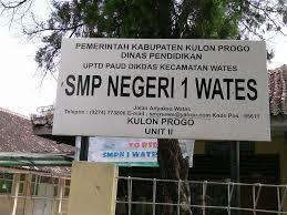 SMPN 1 Wates Kulon Progo Jogja