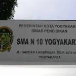 SMA Negeri 10 Yogyakarta Alamat