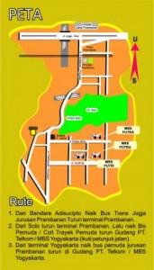 Sekolah MBS Muhammadiyah Bording School Peta Lokasi