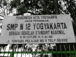 SMPN 12 Yogyakarta Alamat