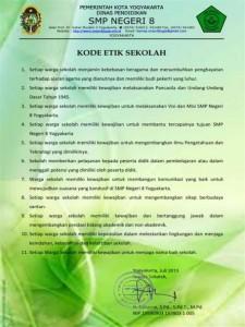 SMPN 8 Jogja Kode Etik Sekolah